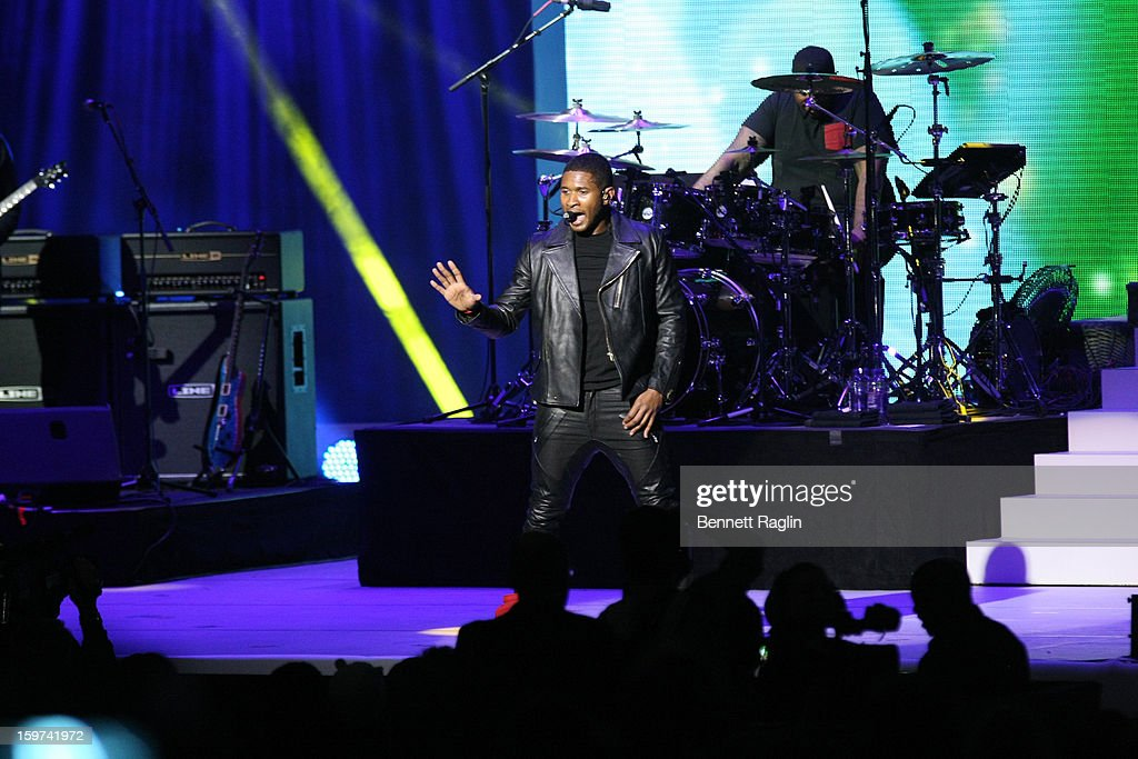 Recording artist Usher performs during the 2013 Kids' Inaugural: Our Children, Our Future on January 19, 2013 in Washington, United States.