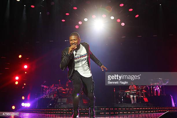 Recording artist Usher performs during the 2015 Essence Music Festival Day 3 on July 4 2015 in New Orleans Louisiana