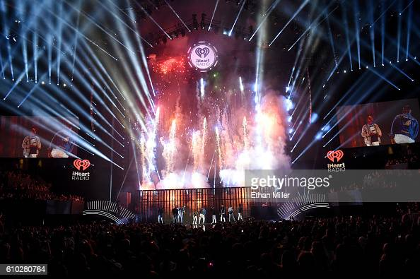 Recording artists Lil Jon Usher and Ludacris perform onstage at the 2016 iHeartRadio Music Festival at TMobile Arena on September 24 2016 in Las...