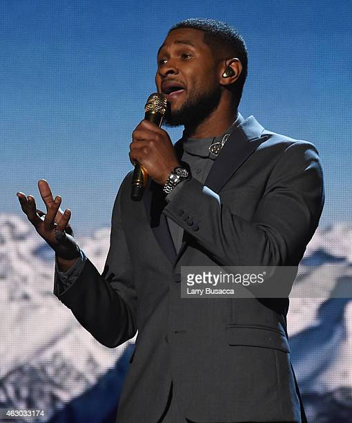 Recording Artist Usher performs onstage during The 57th Annual GRAMMY Awards at the STAPLES Center on February 8 2015 in Los Angeles California