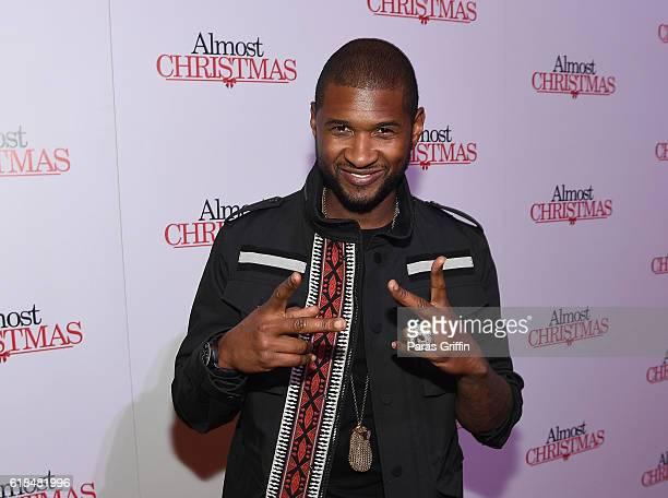Recording artist Usher Raymond attends 'Almost Christmas' Atlanta screening at Regal Cinemas Atlantic Station Stadium 16 on October 26 2016 in...