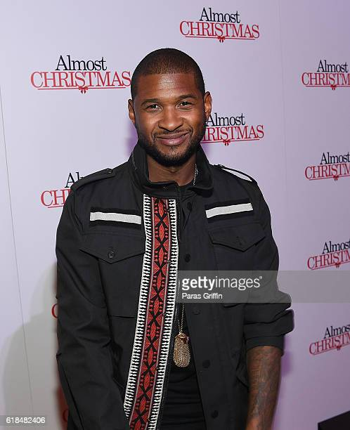 Recording artist Usher Raymond attends 'Almost Christmas' Atlanta screening at Regal Cinemas Atlantic Station Stadium 16 on October 26 2016 in...
