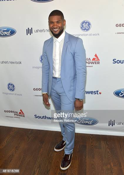 Recording Artist Usher Raymond attends Ushers New Look United to Ignite Awards Exclusive VIP Reception on July 22 2015 in Atlanta Georgia