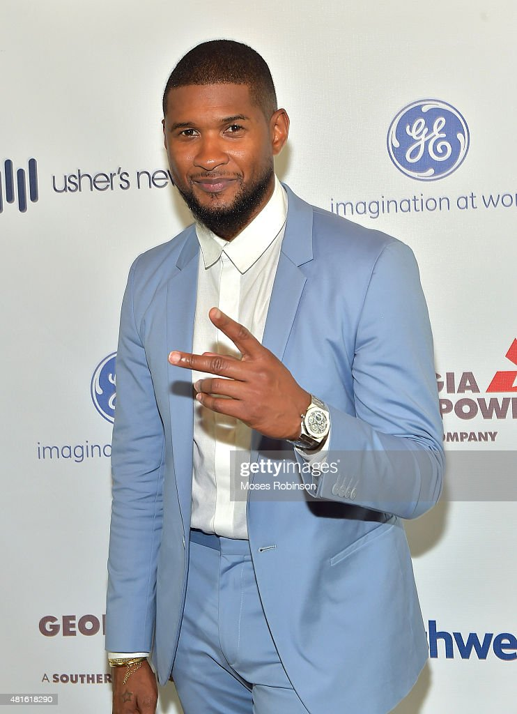 Recording Artist Usher Raymond attends Ushers New Look United to Ignite Awards Exclusive VIP Reception on July 22, 2015 in Atlanta, Georgia.