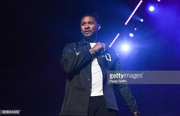 Recording artist Usher Raymond performs onstage at 2016 V103 Winterfest at Philips Arena on December 10 2016 in Atlanta Georgia