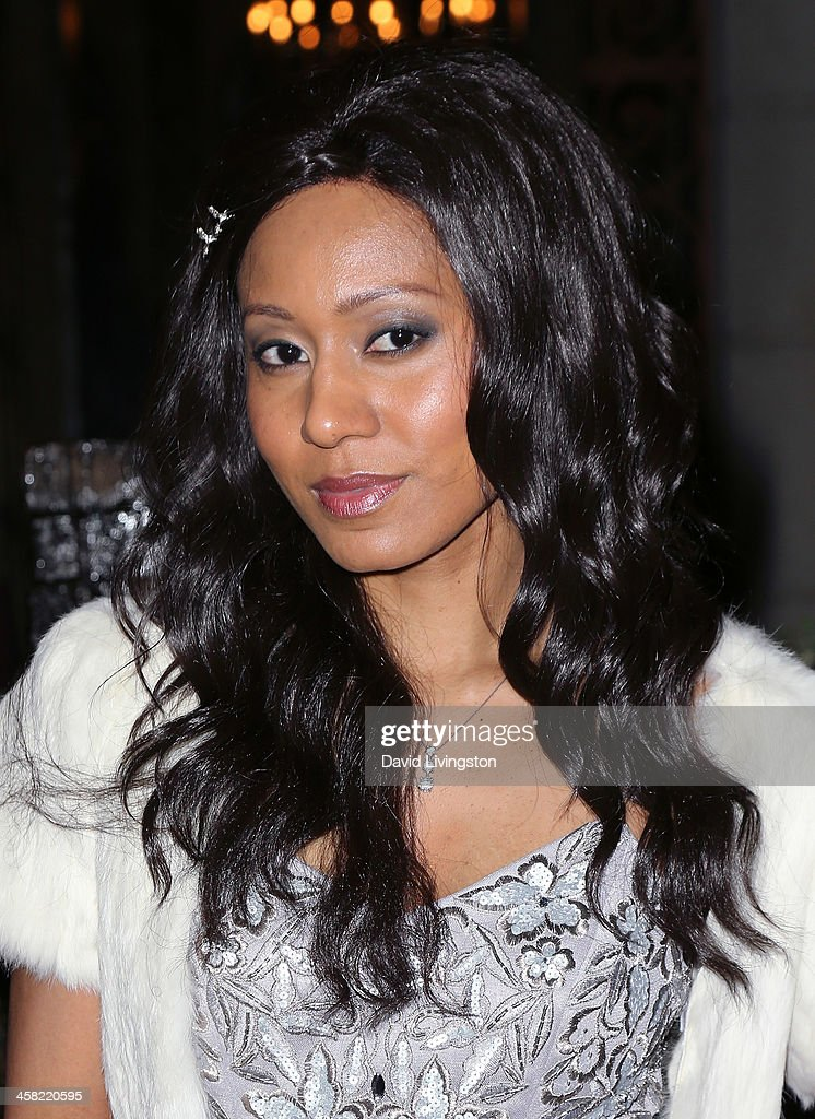 Recording artist Vaja Alani attends Sue Wong's holiday party at her home on December 20, 2013 in Los Angeles, California.