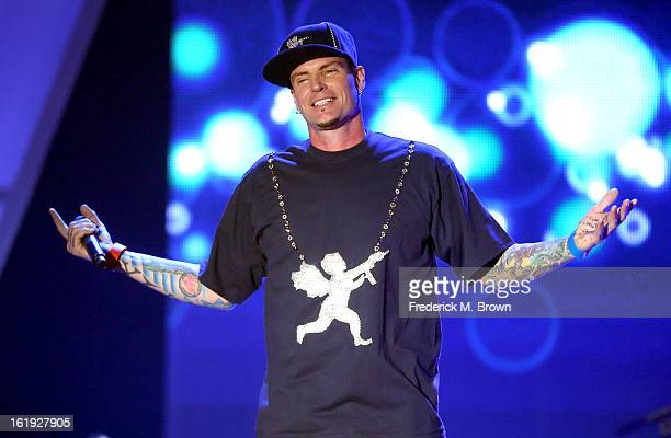 Recording Artist Vanilla Ice performs onstage at the 3rd Annual Streamy Awards at Hollywood Palladium on February 17 2013 in Hollywood California