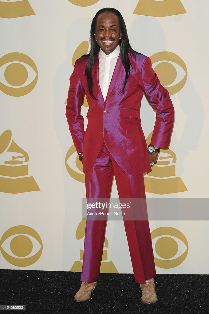 Recording artist Verdine White poses in the press room at The GRAMMY Nominations Concert Live! Countdown To Music's Biggest Night at Nokia Theatre L.A. Live on December 6, 2013 in Los Angeles, California.