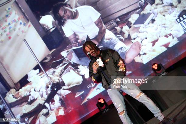 Recording artist Vic Mensa performs onstage during Capitol Music Group's Premiere Of New Music And Projects For Industry And Media at ArcLight...