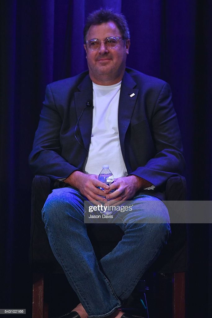Recording Artist <a gi-track='captionPersonalityLinkClicked' href=/galleries/search?phrase=Vince+Gill&family=editorial&specificpeople=215309 ng-click='$event.stopPropagation()'>Vince Gill</a> speaks at Leadership in Music Symposium during Music Industry Day at Summer NAMM in Music City Center on June 25, 2016 in Nashville, Tennessee.