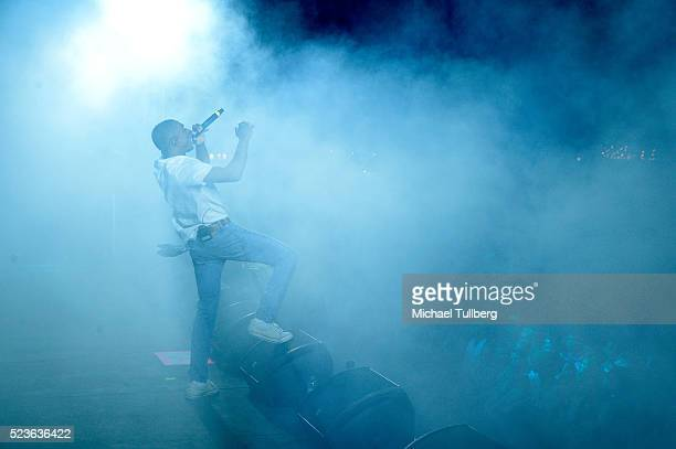 Recording artist Vince Staples performs onstage during day 2 of the 2016 Coachella Valley Music Arts Festival Weekend 2 at the Empire Polo Club on...