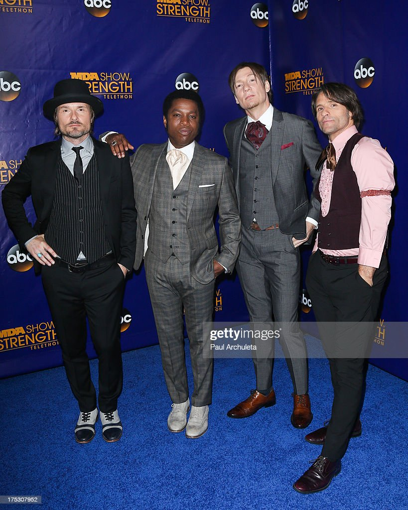 Recording Artist Vintage Trouble attends the Muscular Dystrophy Association's 48th annual MDA Show Of Strength telethon day 2 at CBS Studios on August 1, 2013 in Los Angeles, California.