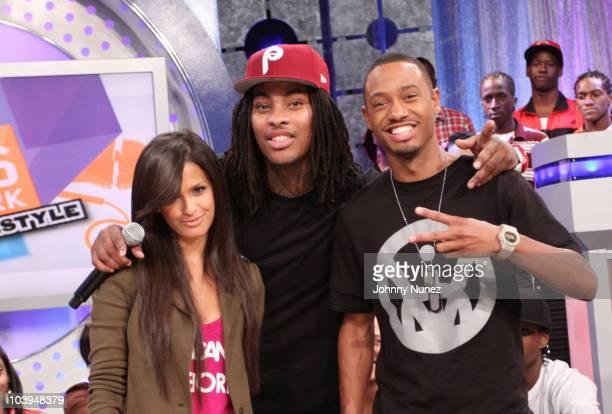 Recording artist Waka Flocka Flame visits BET's '106 Park' with hosts Rocsi and Terrence J at BET Studios on September 8 2010 in New York City