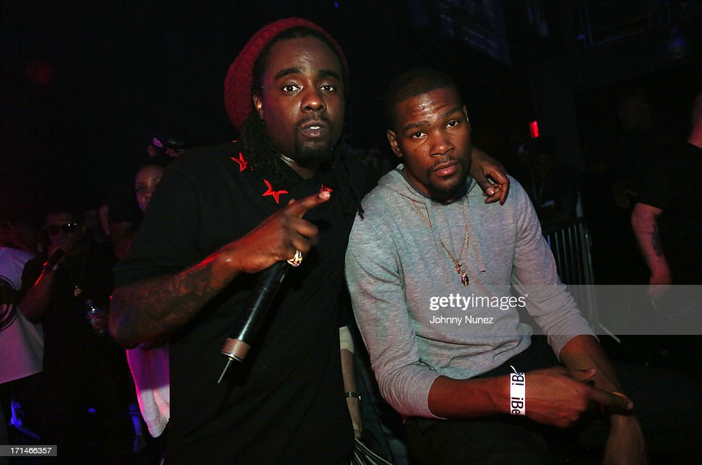 Recording artist Wale and NBA player Kevin Durant attend Best Buy Theater on June 24 2013 in New York City