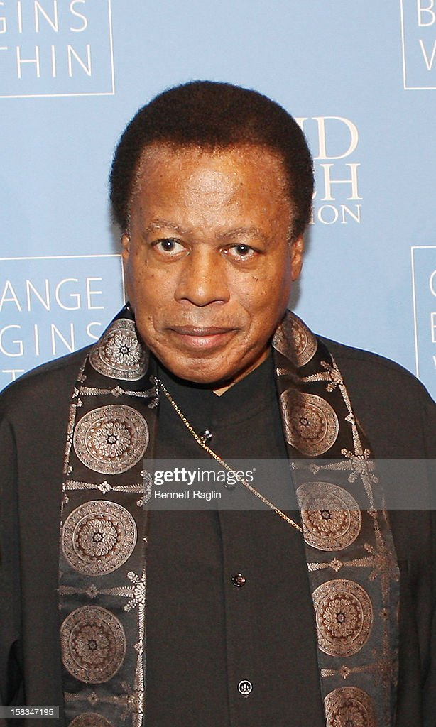 Recording artist <a gi-track='captionPersonalityLinkClicked' href=/galleries/search?phrase=Wayne+Shorter&family=editorial&specificpeople=1065564 ng-click='$event.stopPropagation()'>Wayne Shorter</a> attends The David Lynch Foundation Hosts 'An Intimate Night Of Jazz' at Frederick P. Rose Hall, Jazz at Lincoln Center on December 13, 2012 in New York City.