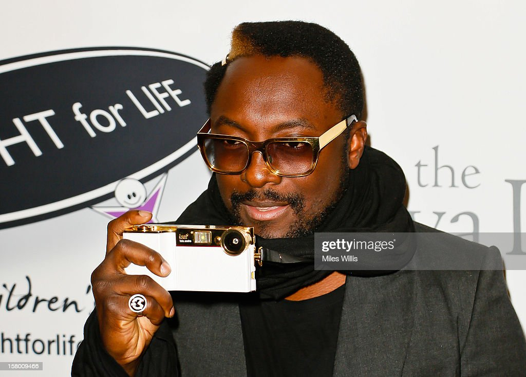 Recording artist Will.i.am arrives at the Noble Gift Gala held at the ME Hotel on December 8, 2012 in London, England.