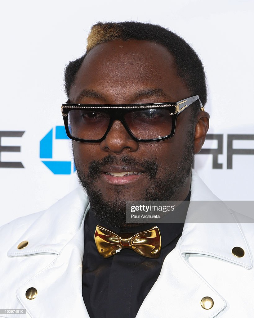 recording Artist Will.i.am attends the 2nd Annual Will.i.am TRANS4M Boyle Heights benefit concert at Avalon on February 7, 2013 in Hollywood, California.
