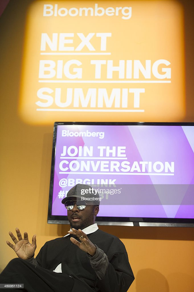Recording artist Will.i.am speaks at the Bloomberg Next Big Thing Summit in San Francisco, California, U.S., on Monday, June 9, 2014. The conference convenes tech's most important entrepreneurs, investors, and innovators for a discussion about what makes great tech leaders, successful companies, and disruptive products. Photographer: David Paul Morris/Bloomberg via Getty Images