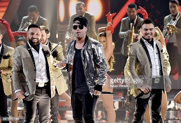 Recording artist Wisin and Banda El Recodo perform onstage during the 16th Latin GRAMMY Awards at the MGM Grand Garden Arena on November 19 2015 in...