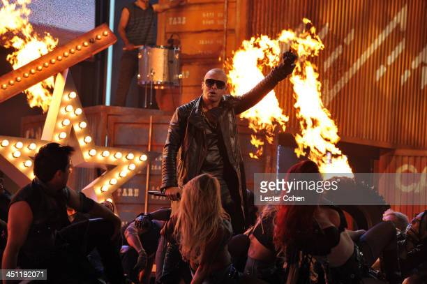 Recording artist Wisin performs during The 14th Annual Latin GRAMMY Awards at the Mandalay Bay Events Center on November 21 2013 in Las Vegas Nevada