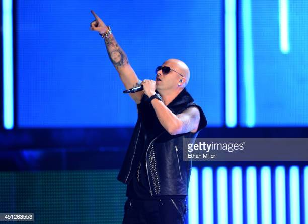 Recording artist Wisin performs onstage during the 14th Annual Latin GRAMMY Awards held at the Mandalay Bay Events Center on November 21 2013 in Las...