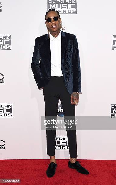 Recording artist Wiz Khalifa attends the 2015 American Music Awards at Microsoft Theater on November 22 2015 in Los Angeles California