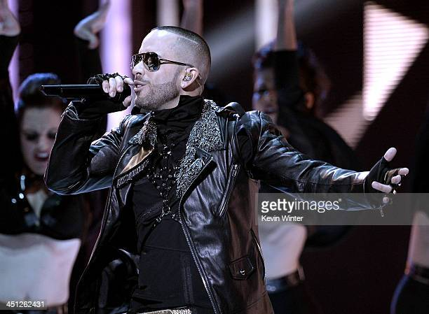Recording artist Yandel performs onstage during The 14th Annual Latin GRAMMY Awards at the Mandalay Bay Events Center on November 21 2013 in Las...