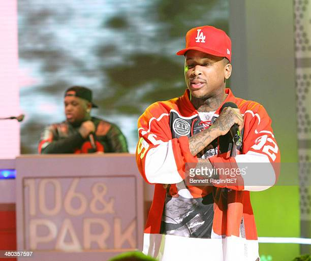 Recording artist YG performs during 106 Park at BET studio on March 24 2014 in New York City