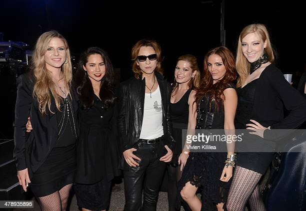 Recording artist Yoshiki and his musicians attend FLAUNT Celebrates The Release Of The List Issue Featuring Yoshiki Vs His Hologram And The Wow at...