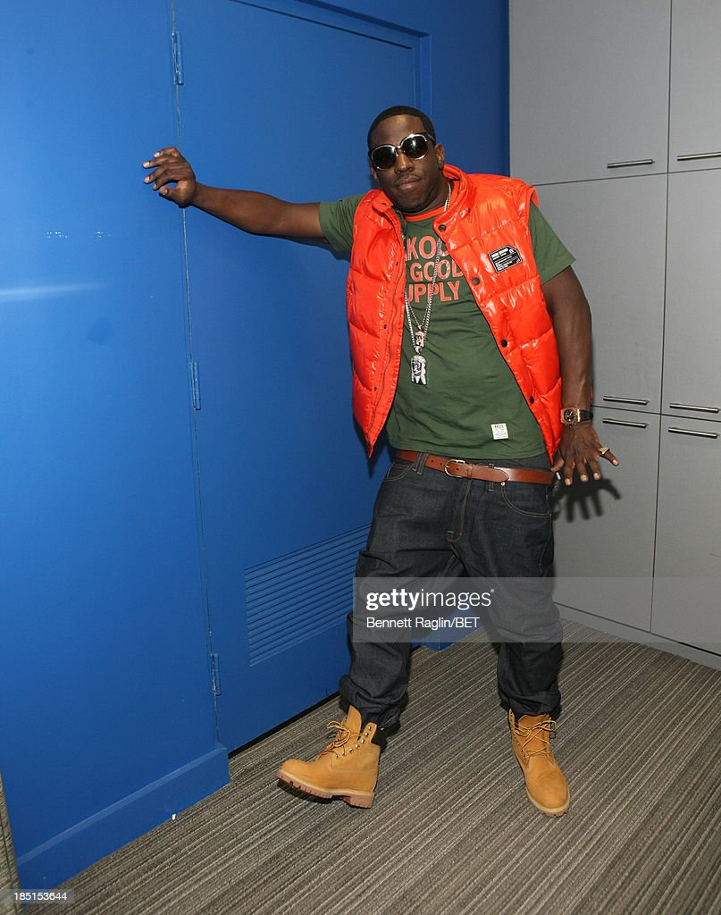 Recording artist Young Dro visits 106 & Park at 106 & Park studio on October 17, 2013 in New York City.