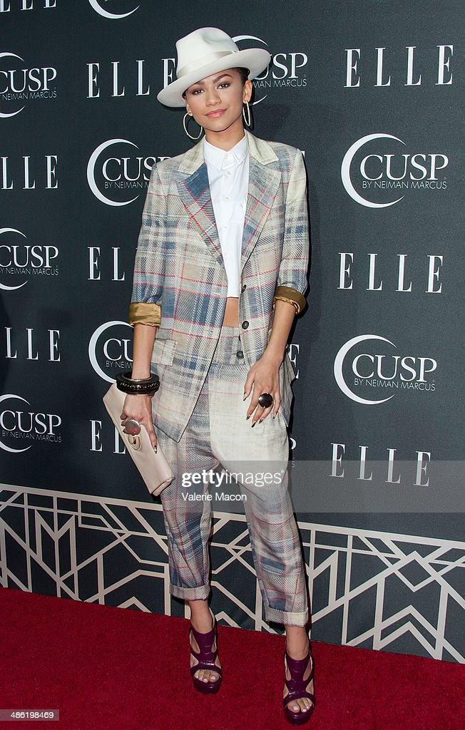 Recording artist Zendaya arrives at ELLE's 5th Annual Women In Music Concert Celebration Presented by CUSP By Neiman Marcus at Avalon on April 22, 2014 in Hollywood, California.
