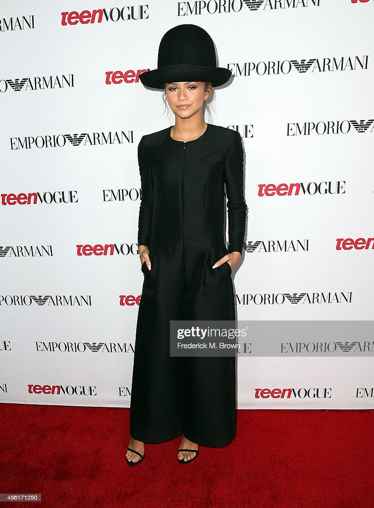 Recording artist Zendaya attends the Teen Vogue Young Hollywood Party on September 26 2014 in Los Angeles California