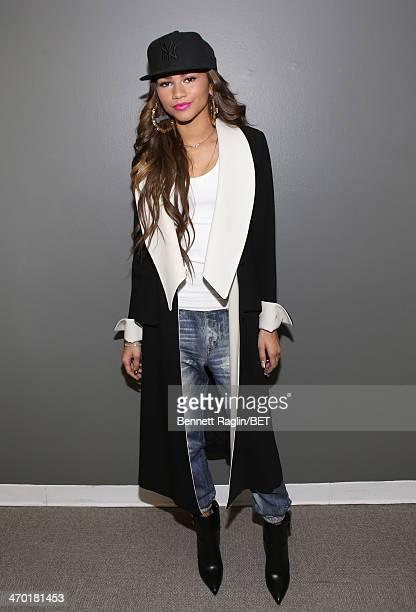Recording artist Zendaya visit 106 Park at BET studio on February 10 2014 in New York City
