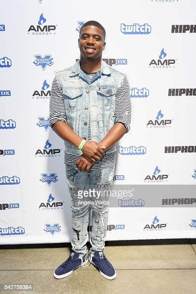 Recording artist Zeric DeJuan attends Next Level Presented By AMP Energy A Hip Hop Gaming Tournament at Rostrum Records on June 23 2016 in Los...