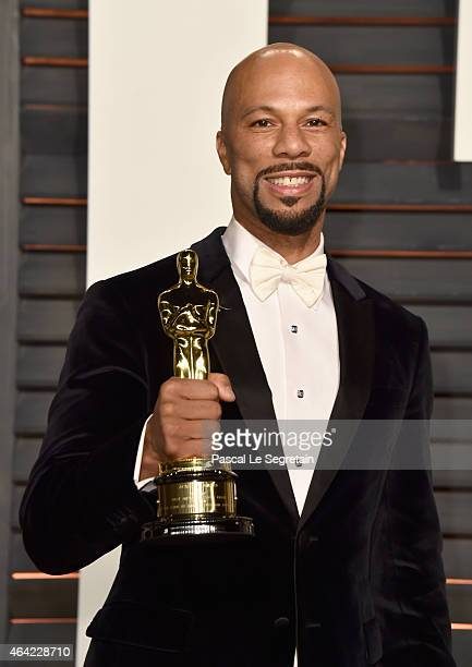 Recording artist/actor Common attends the 2015 Vanity Fair Oscar Party hosted by Graydon Carter at Wallis Annenberg Center for the Performing Arts on...