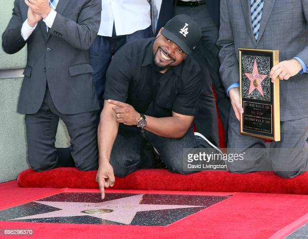 Recording artist/actor Ice Cube attends his being honored with a Star on the Hollywood Walk of Fame on June 12 2017 in Hollywood California