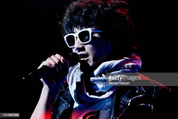 Recording artist/actor Jin Akanishi performs at Club Nokia on March 9 2012 in Los Angeles California