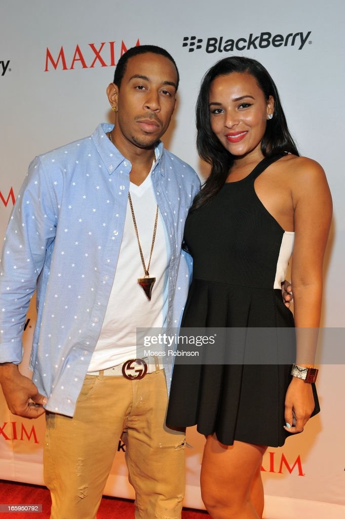Recording Artist/Actor <a gi-track='captionPersonalityLinkClicked' href=/galleries/search?phrase=Ludacris&family=editorial&specificpeople=203034 ng-click='$event.stopPropagation()'>Ludacris</a> and girlfriend Eudoxie Agnan attend Maxim Blackberry Madness on April 6, 2013 in Atlanta, Georgia.