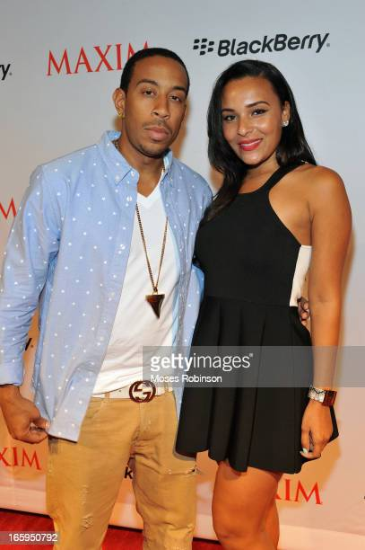 Recording Artist/Actor Ludacris and girlfriend Eudoxie Agnan attend Maxim Blackberry Madness on April 6 2013 in Atlanta Georgia