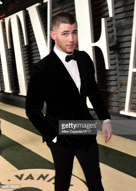 Recording artist/actor Nick Jonas attends the 2017 Vanity Fair Oscar Party hosted by Graydon Carter at Wallis Annenberg Center for the Performing...