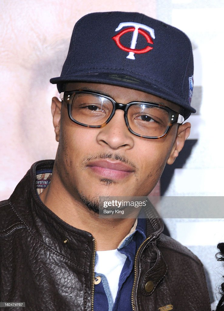 Recording Artist/actor T.I. arrives at the Los Angeles premiere of 'Identity Thief' held at Mann Village Theatre on February 4, 2013 in Westwood, California.
