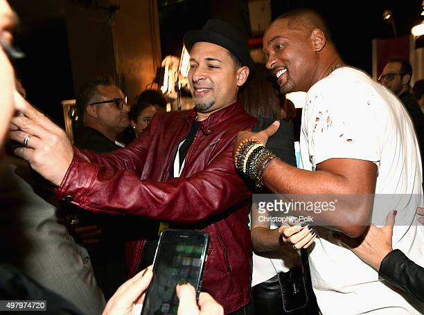 Recording artist/actor Will Smith and guest take a selfie during the 16th Latin GRAMMY Awards at the MGM Grand Garden Arena on November 19 2015 in...