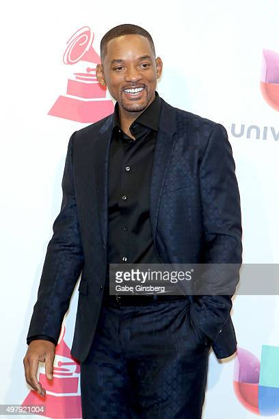Recording artist/actor Will Smith poses in the press room during the 16th Latin GRAMMY Awards at the MGM Grand Garden Arena on November 19 2015 in...