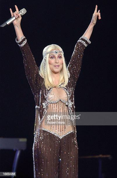Recording Artist/Actress Cher performs in concert at STAPLES Center on December 2 2002 in Los Angeles California