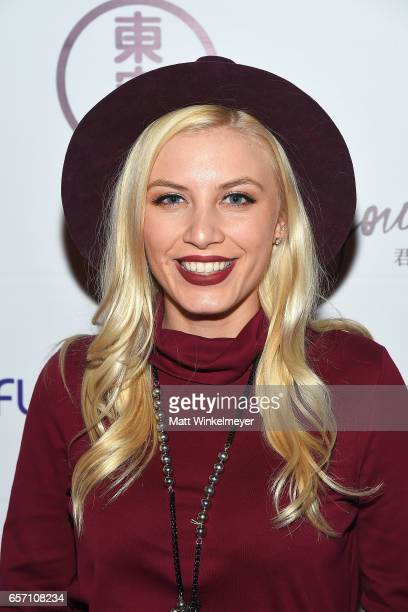 Recording artist/actress Grace Valerie attends Funimation Films presents 'Your Name' Theatrical Premiere in Los Angeles CA at Yamashiro Hollywood on...
