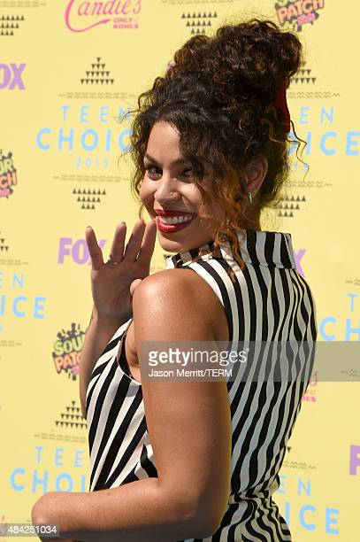 Recording artist/actress Jordin Sparks attends the Teen Choice Awards 2015 at the USC Galen Center on August 16 2015 in Los Angeles California