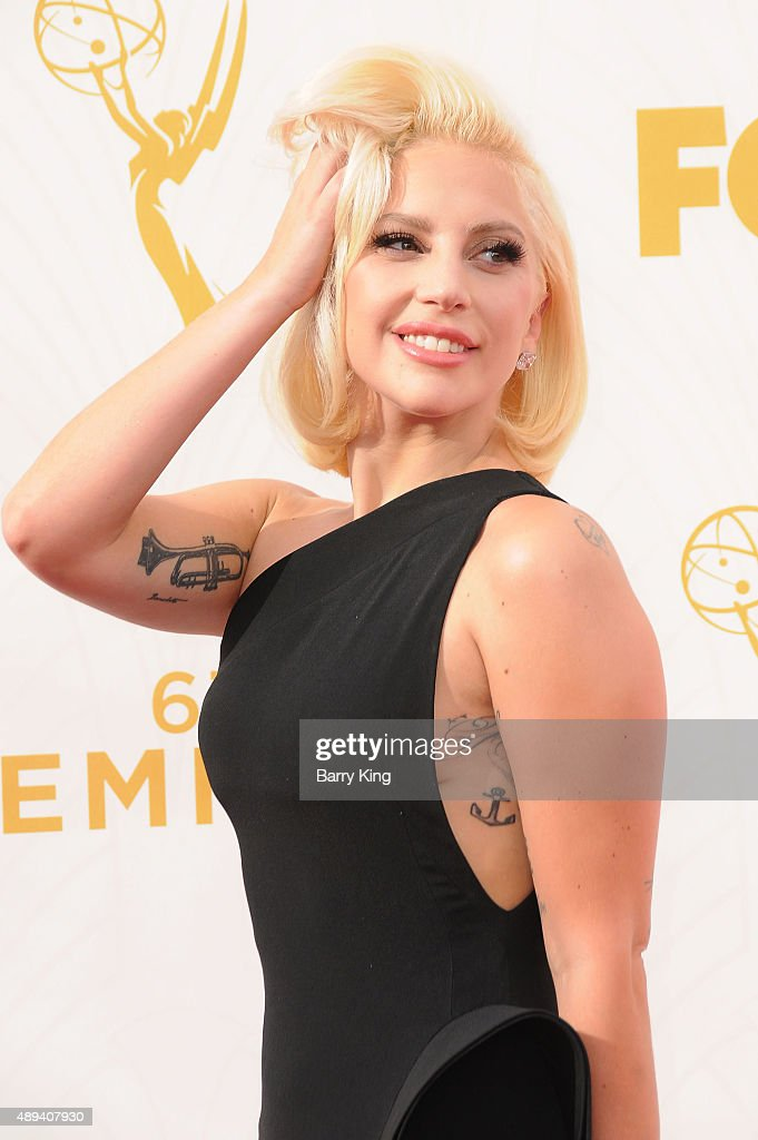 Recording Artist/actress Lady Gaga arrives at the 67th Annual Primetime Emmy Awards at the Microsoft Theater on September 20, 2015 in Los Angeles, California.