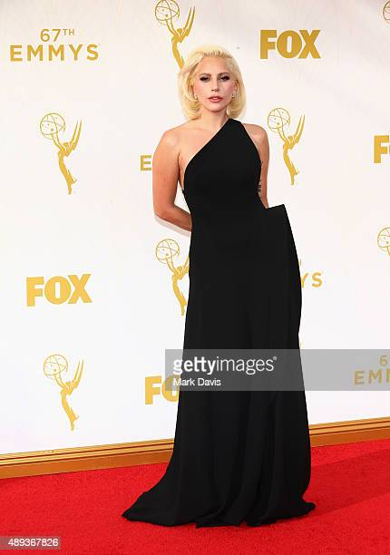 Recording artist/actress Lady Gaga attends the 67th Annual Primetime Emmy Awards at Microsoft Theater on September 20 2015 in Los Angeles California