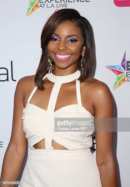 Recording artist/actress Miss Mykie attends the fashion show presented by Pantene and Poetic Justice Jeans during the 2014 BET Experience At LA LIVE...