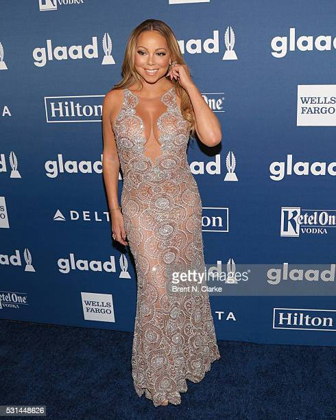 Recording artist/Ally Award recipient Mariah Carey attends the 27th Annual GLAAD Media Awards held at The Waldorf=Astoria on May 14 2016 in New York...